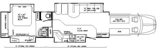 Semi Truck Floor Plans