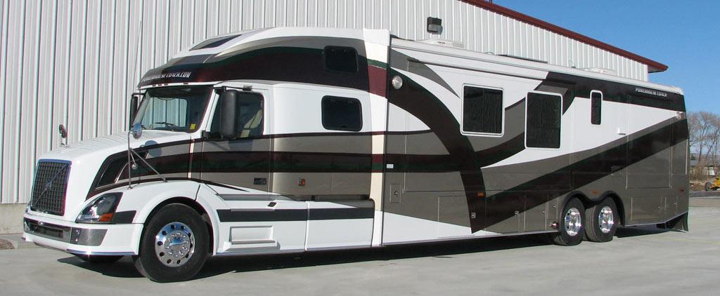 Custom motorhomes motorcoaches toterhomes truck sleepers for Custom motor coach builders
